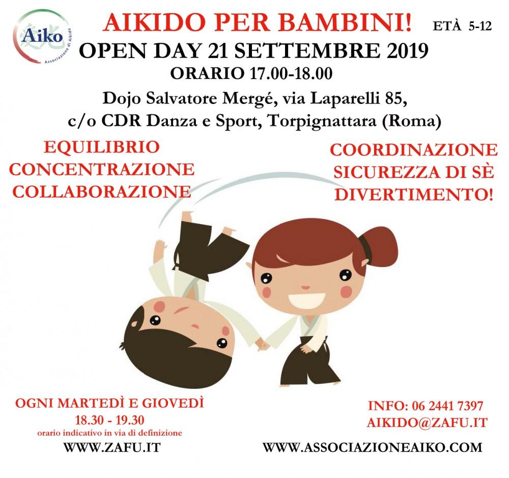 corso di aikido per bambini a torpignattara, roma